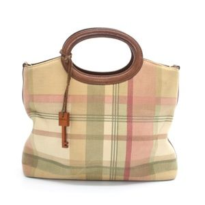 Fossil Plaid Hand Bag with Key Charm